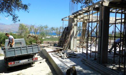 Huset bygges op…