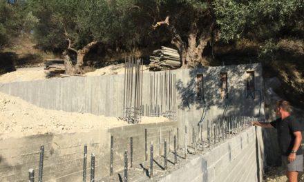 Fundamentet og bagmur er færdig!!